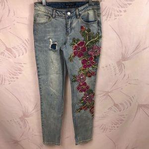 Boston Proper Embellished Denim Jeans